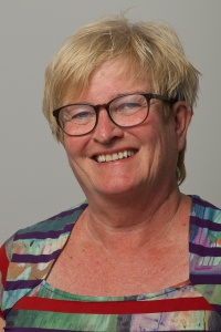 Solrun Nygård, glad